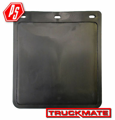 2 TRUCKMATE PLAIN MUD FLAPS BLACK 280mm x 300mm (11 inch drop x 12 inch wide)
