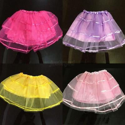 New Candy Color Baby Girls Translucent Party Skirt Tulle Tutu Ballet Dance Dress