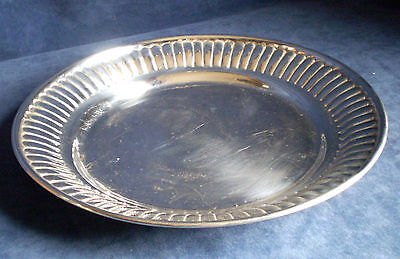 """GOOD Large 13"""" ~ SILVER Plated ~ VICTORIAN Styled ~ Carving / PLATTER Tray"""