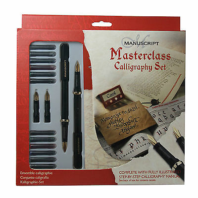Manuscript Left Handed Masterclass Calligraphy Ink Gift Set Guide Book MC146L