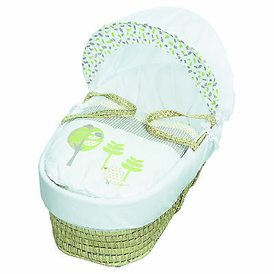 Birds  Moses Basket 4 Piece Dressings (Moses Basket Not Included)