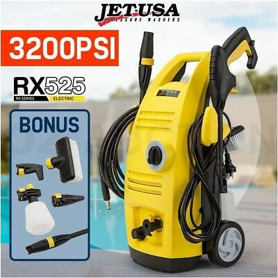 Jet-USA 3200 PSI Electric High Pressure Cleaner Washer Water Pump Hose Gurney