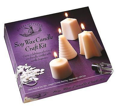 House Of Crafts Soy Wax Candle Making Kit Eco Friendly Vanilla Fragrance HC560