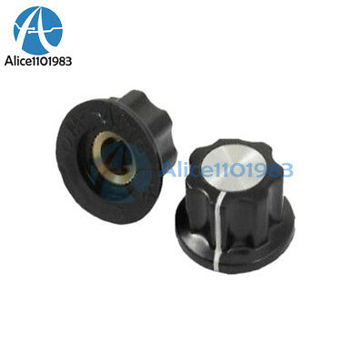 5PCS 16mm Top Rotary Control Turning Knob for Hole 6mm Dia. Shaft Potentiometer