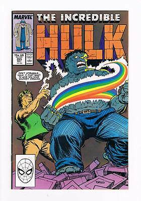 Incredible Hulk # 355 Now You See It.... !  grade - 8.0 scarce book !!