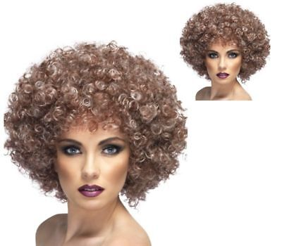 70s Afro Wig Blonde And Brown Mix Large Fro Fancy Dress Disco Dancing Accessory