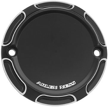 Harley XL50 50th Sportster 07Beveled 2-Hole Points Cover Blk by Arlen Ness