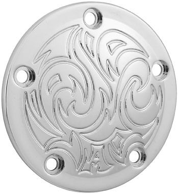 Harley FLHR Road King 1999-2014Engraved 5-Hole Points Cover Chrome by Arlen Ness