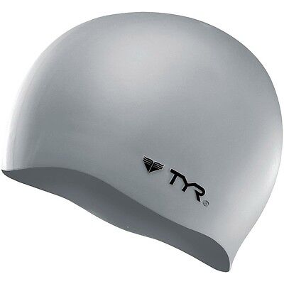 TYR Wrinkle Free Silicone Swim Cap-Silver-Hat-Wrinkle Free-Swimming-New