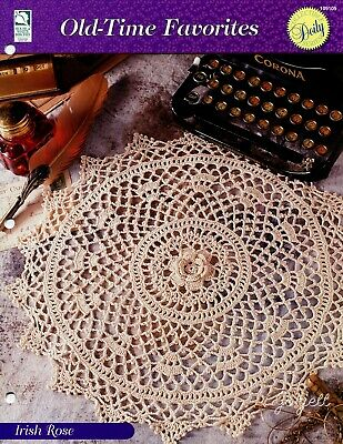 Irish Rose Doily Old Time Favorites Crochet Pattern 250 Picclick