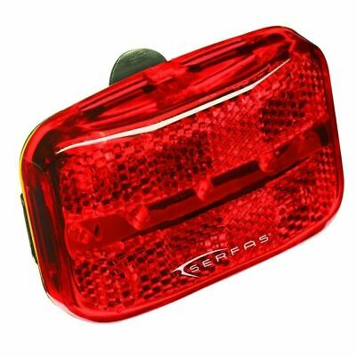 Serfas TL-SSR Stop Sign Bicycle Tail light-Red-Rear Visibility-Night-New