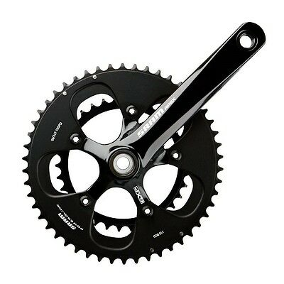NEW SRAM Apex Black withWhite Logo172.5mm 50-34 Crankset GXP BB FULL WARRANTY