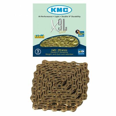 KMC X9-SL-9 Speed Road/Mountain Bicycle Chain-Light-X9 sl ti and Link-New-Gold