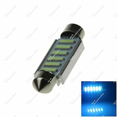 1X Ice Blue 211 44MM 6 SMD 7020 LED Interior Light License Plate Lamp Auto 20318
