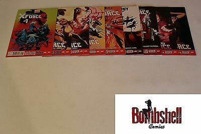 Uncanny X-Force 1 2 3 4 5 6 7 8 9 Complete Comic Lot Run Set 1st Print Humphries