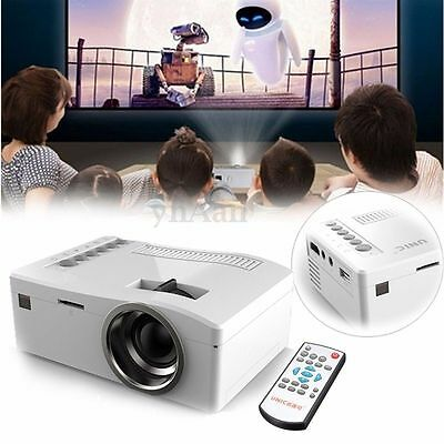 HD 1080P Multimedia Cine En Casa Projector LED Mini Proyector AV TV Aux VGA USB
