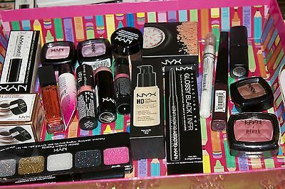 Premium Mixed NYX MAKE UP LOT OF 20 PIECES NO REPEATS + FREE 10 COLORS PALETTE