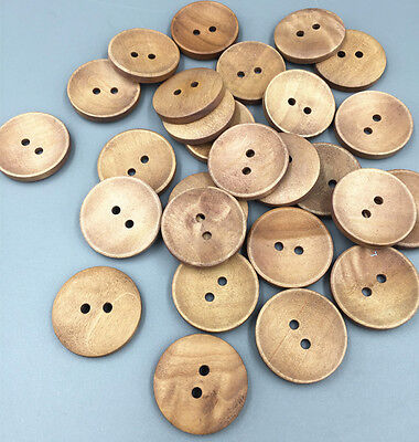 2 Holes Wooden Buttons round Fit Sewing Scrapbookin Clothing accessories 25mm