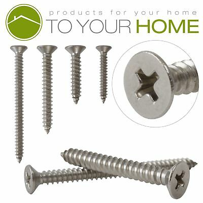 Countersunk Self Tapping Pozi Chipboard Wood Screws A2 Stainless Steel 2.9mm 4g