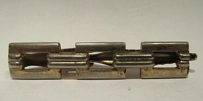 Hickok Vintage Tie Clasp with Alligator Clip & Heavy Chain Link Design