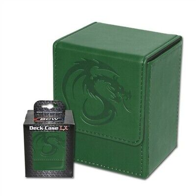 BCW Green Deck Case LX Gaming Card Leatherette Magic the Gathering Storage Box