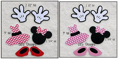 Die Cut Disney Minnie Mouse Hands Shoes Dress Scrapbook Paper Piecing Mickey CKS
