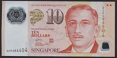 SINGAPORE 10 Dollars N/D (2013) P-48b EF POLYMER circulated banknote