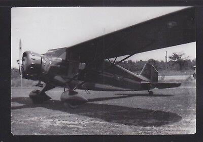 Usa 19(?) A-88 Stinson Straight Wing Airplane Vintage Photograph