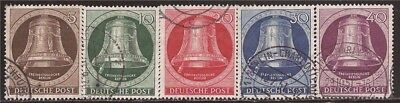 Germany-Berlin - 1951 Freedom Bell - 5 Stamp Set -   #9N70-4