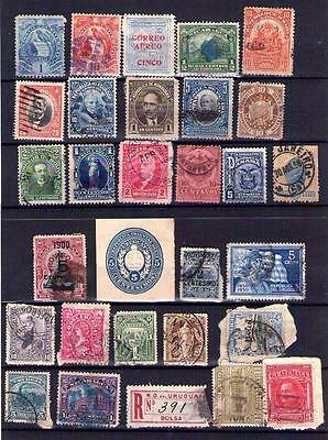 Early South & Central America Stamps Chile Uruguay, Scarce? see 3 scans