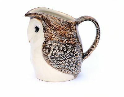 Barn Owl Cream Jug by Quail Pottery Collectable creamer Small Jug Gift Boxed