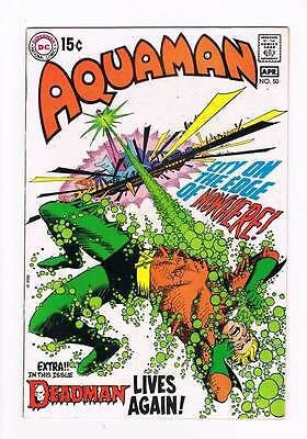 Aquaman # 50 Can This Be Death? ! grade 8.5 scarce book !!