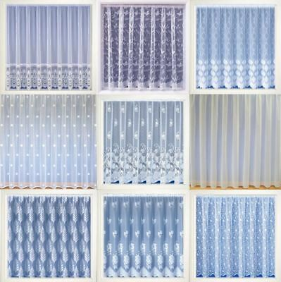 Modern White Net Curtain Luxury Lace Curtains Nets Sold By The Metre