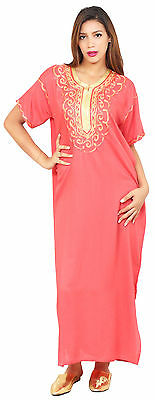 Caftan Moroccan Women kaftan Arabian Beach Summer Long Dress Muslim Abaya Cotton