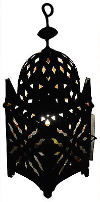 Moroccan Lantern Wrought Cast Iron Tealight Candle Holder Outdoor  Lanterns