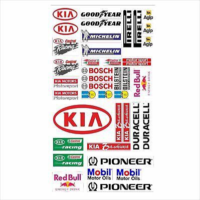 KIA Logo Autoaufkleber Sponsoren Marken Aufkleber Decals Tuning Sticker Set