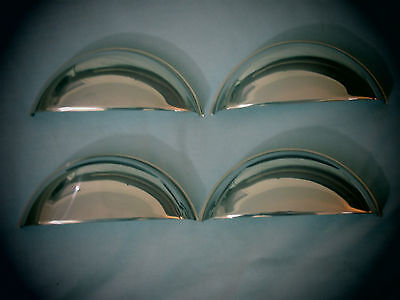 """Half Moon Stickout Polished Stainless Headlight Covers, Shield 5-3/4""""- $20.00 -4"""