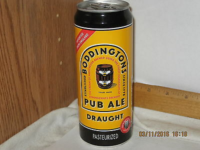 Boddingtons Pub Ale Draught 14.9 oz aluminum beer can sta-tab top opened