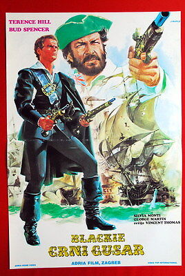 Blackie Pirate Bud Spencer Terence Hill 1971 Rare Exyu Movie Poster