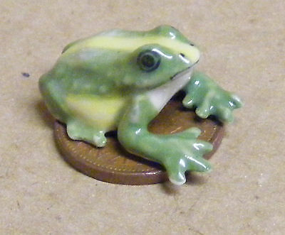 1:12 Scale A Large  Green Dolls House Miniature Ceramic Frog Garden Accessory A