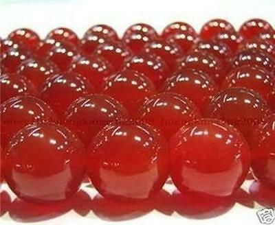 Natural 6mm Red Ruby Gemstone Round Loose Bead 15'' AA+++