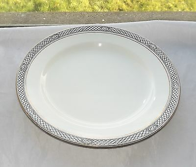 Pountney & Co Bristol Ware Scale Pattern Black and White Dinner Plate c1920s