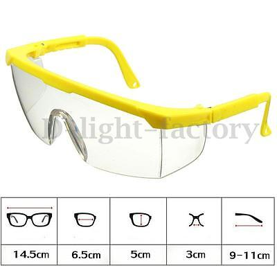 Adjustable Vented Clear Safety Goggles Glasses Eye Protection Dust Anti-Fog LAB