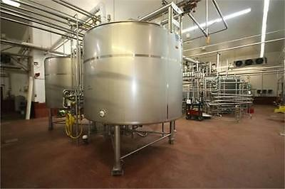 2000 Gallon Stainless Steel Processor Tank Vertical  Legs with Sweep Agitation