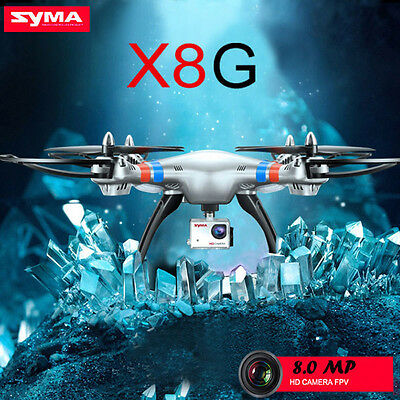 Syma X8G 2.4G 4CH 6Axis 8MP1080P HD Camera Headless Mode RC RTF Drone Quadcopter