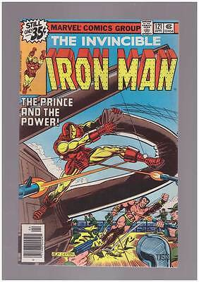 Iron Man # 121  The Prince and the Power !  grade 8.5 scarce book !