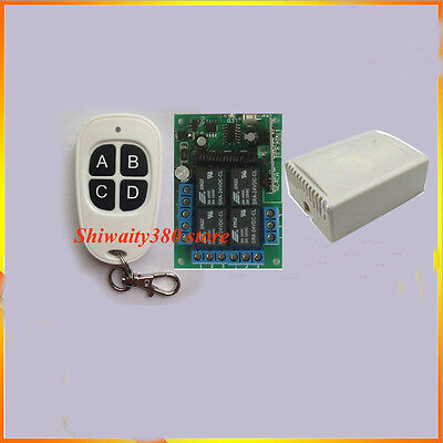 DC 12/24V 4CH Multi Wireless Remote Control Relay Switch Transceiver + Receiver