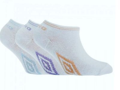 3 Pairs Kids/Girls Official UMBRO Trainer Liner Socks - Shoe/Sock sz 9-12  12-3