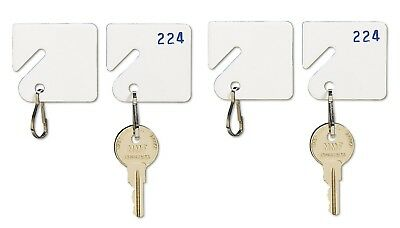 MMF Industries Key Tags Plain White Plastic (20/Pack) Brand New Item