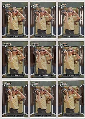(9) 2008 Donruss Legends Pete Weber Silver Foil Card #99 Lot ~ Pba Bowling Great